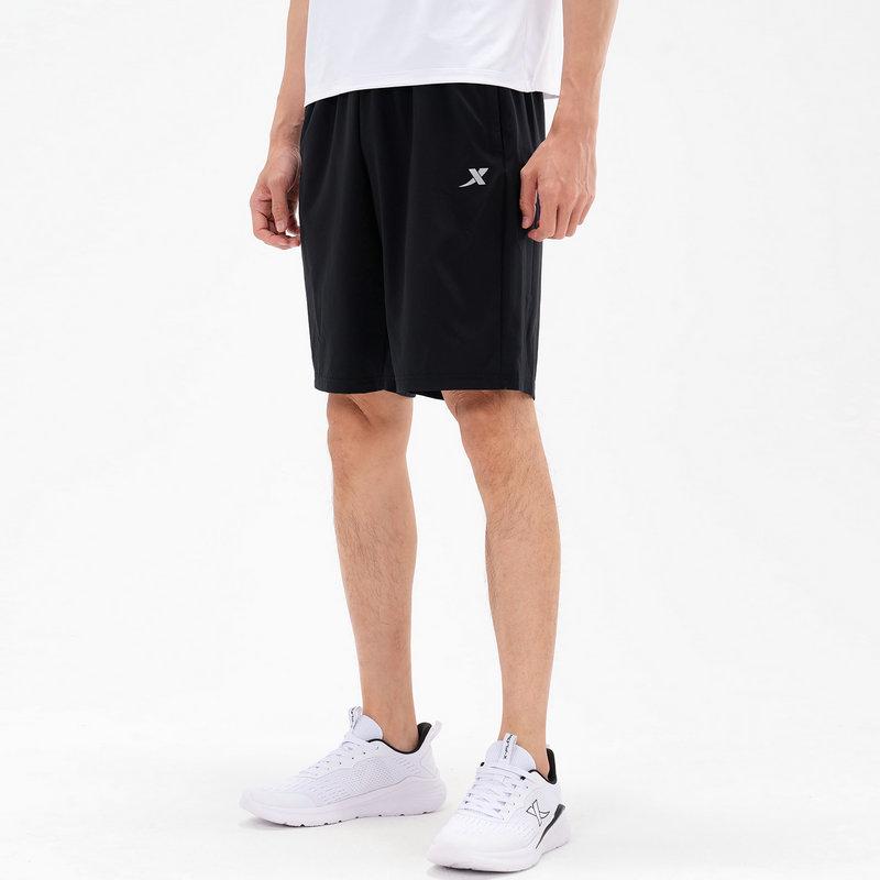 特步 专柜款 男子针织短裤 21年新款 潮流运动时尚短裤979229240542
