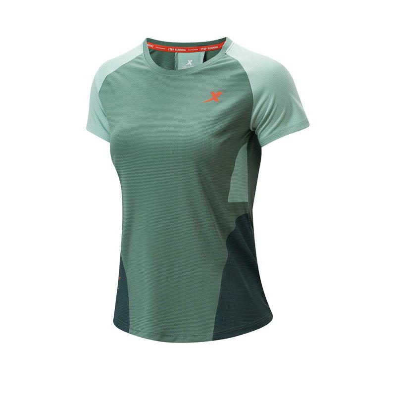 特步 专柜款  女子短袖针织衫 21年夏季新款 跑步训练健身运动T恤979128010143