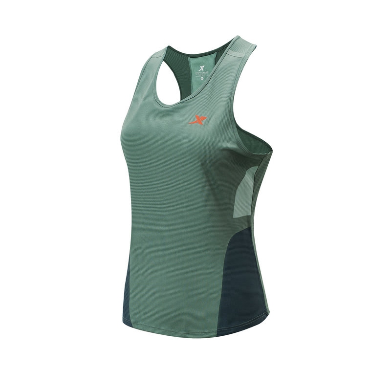 特步 专柜款 女子运动背心 21年夏季新款 跑步训练健身运动透气无袖背心979128090146