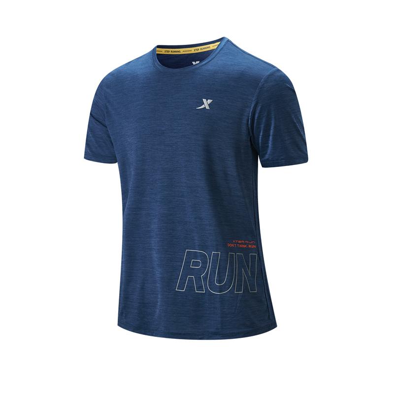 特步 专柜款 男子短袖针织衫 21年夏季新款 跑步健身运动训练T恤979229010246