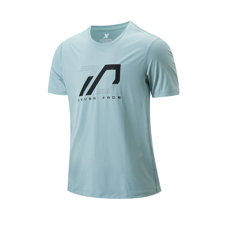 特步 专柜款 男子短袖针织衫 21年夏季新款 健身运动训练跑步T恤979229010607