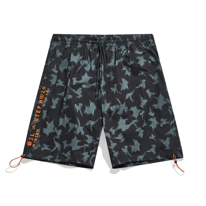 【少林联名】专柜款 梭织运动五分裤 21年新款 潮流休闲运动舒适五分裤979429970504