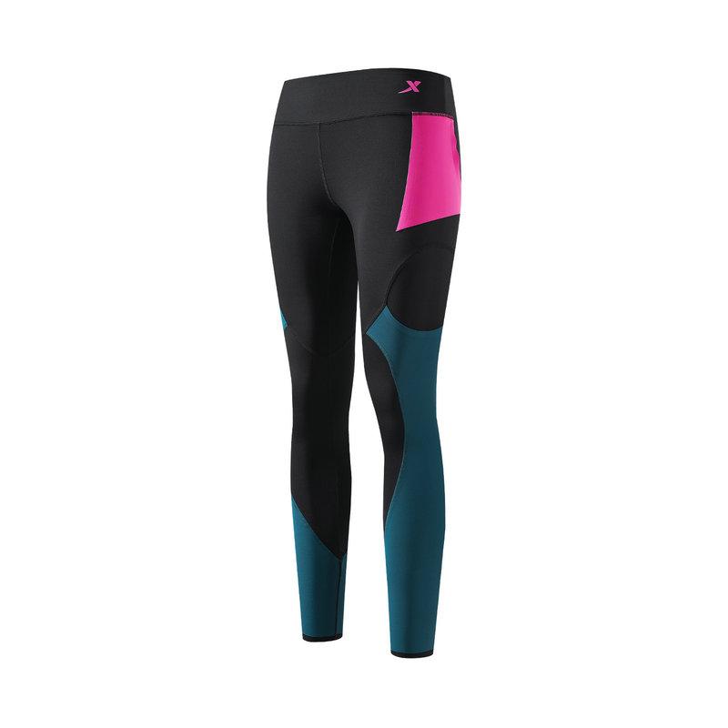 特步 专柜款 女子紧身裤 21年新款 运动时尚瑜伽跑步女子紧身裤979128580148