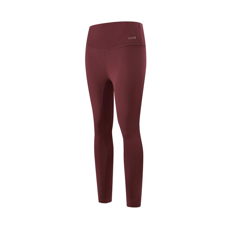 特步 专柜款 女子紧身裤 21年新款 运动瑜伽跑步健身女子紧身裤979128580421