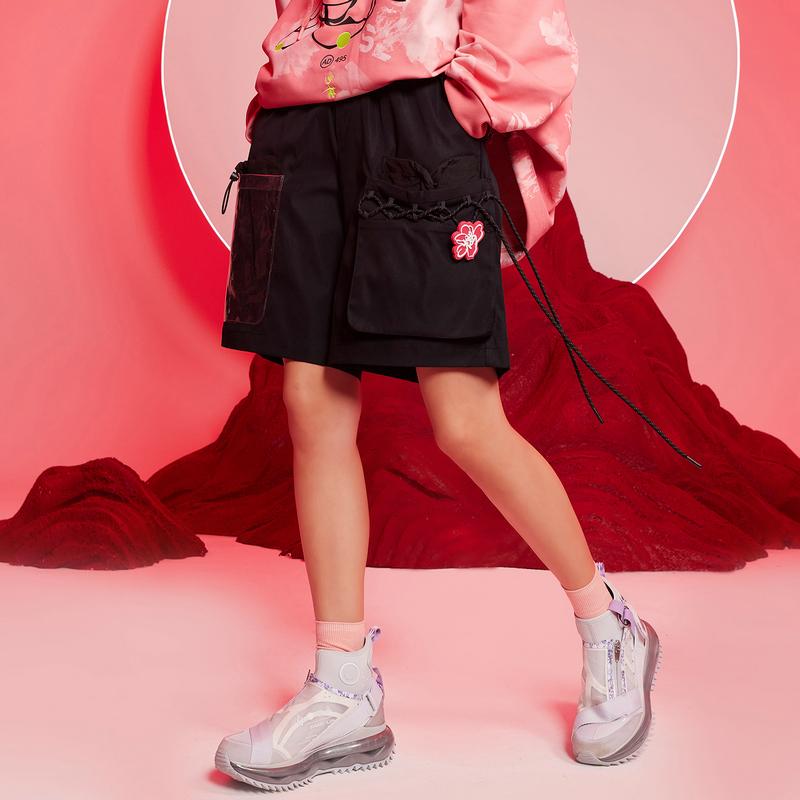 【少林联名】专柜款 女子梭织运动短裤 21年新款 潮流时尚百搭五分裤979428240516