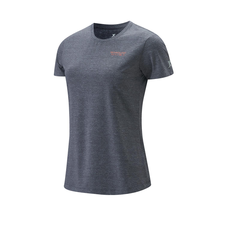 特步 专柜款 女子短袖针织衫 21年新款 运动跑步舒适瑜伽女子T恤979228010202