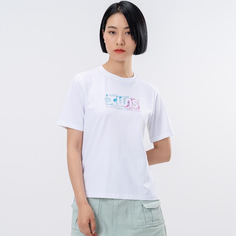 特步 专柜款 女子短袖针织衫 21年新款 运动舒适休闲瑜伽女子T恤979328010003