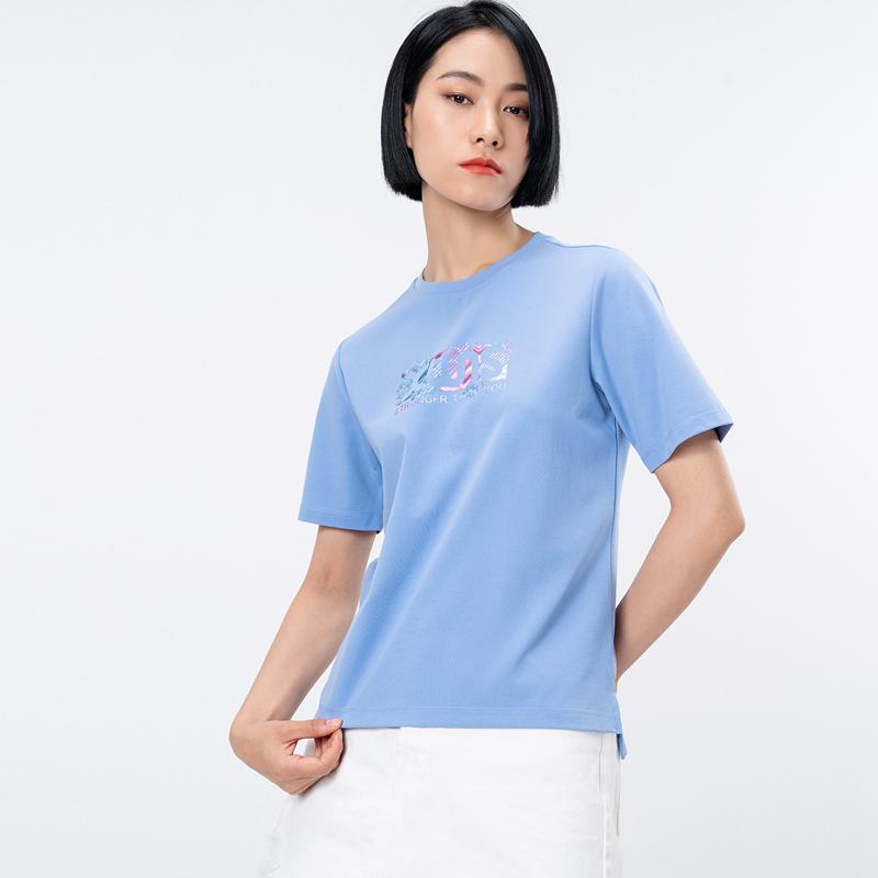 专柜款 女子短袖针织衫 21年新款 运动舒适休闲瑜伽女子T恤979328010003