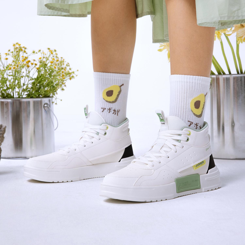 特步 女子板鞋 21年新款 休闲时尚简约运动女板鞋879318310032