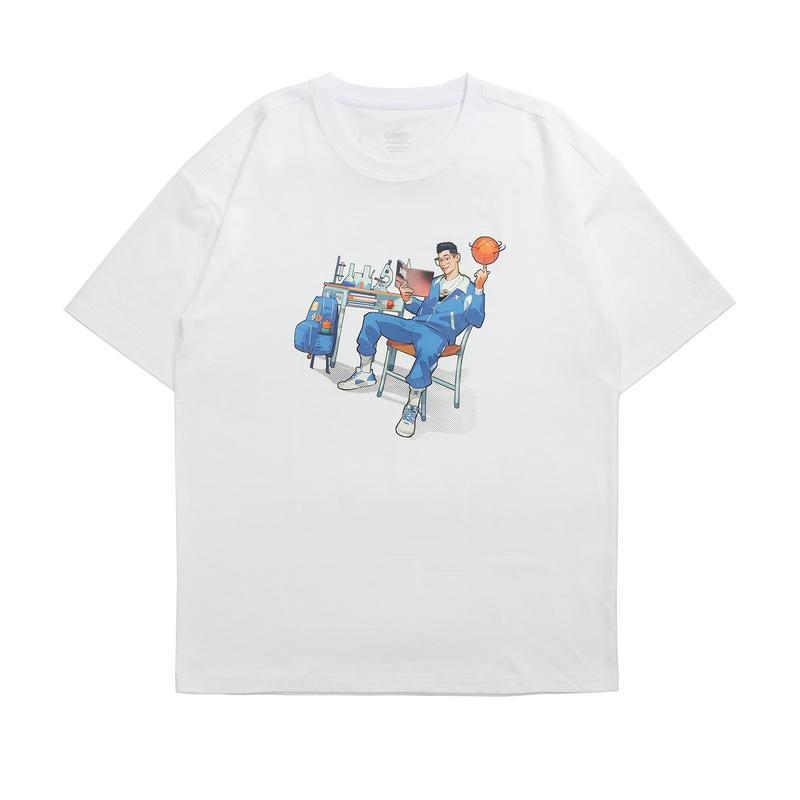 【林书豪系列】特步 男女短袖针织衫 21年新款 休闲时尚篮球运动男女T恤879229010435