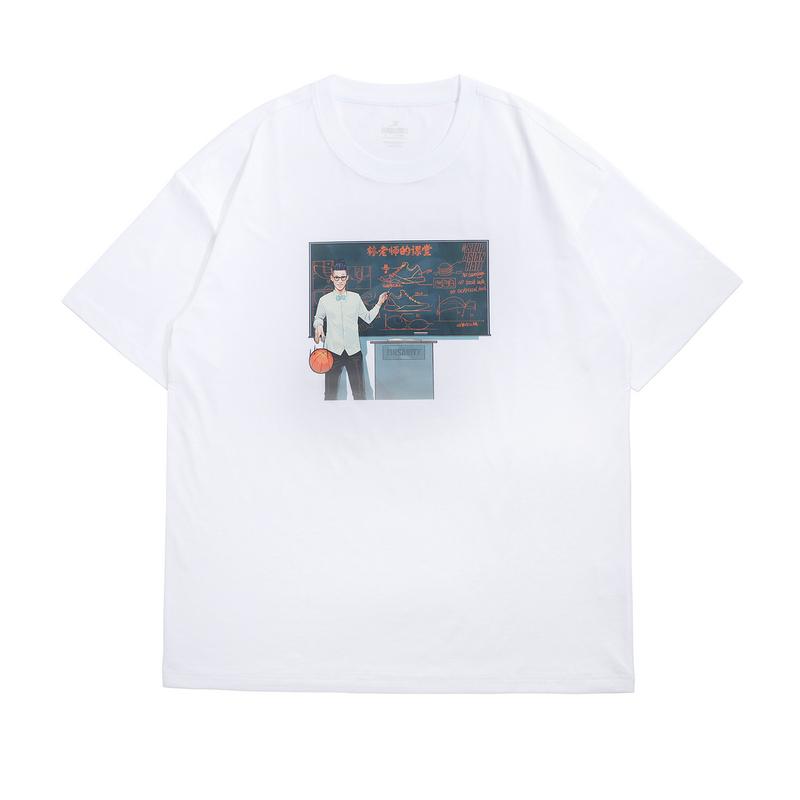 【林书豪系列】特步 男女短袖针织衫 21年新款 休闲印花篮球运动男女T恤879229010437