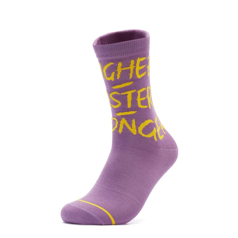特步 男女高帮袜 21年新款 休闲时尚运动高帮袜879237560077