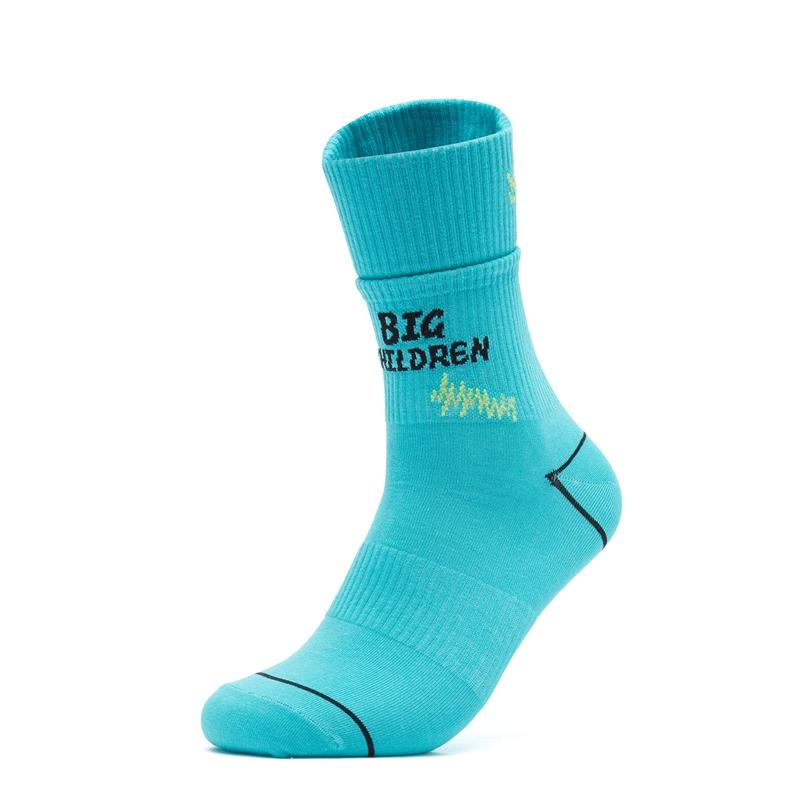 特步 男女长袜 21年新款 休闲时尚运动高帮袜879237560078