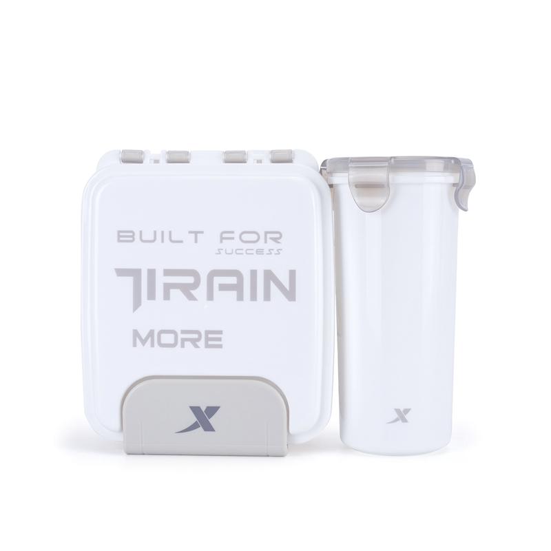 特步  饭盒水杯2件套 21年新款 PP材质可微波加热装热水879337808001