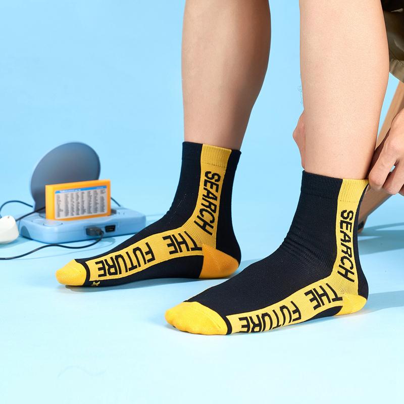 特步 男平板长袜 21年新款(3双装)时尚潮流百搭透气长袜879339560029