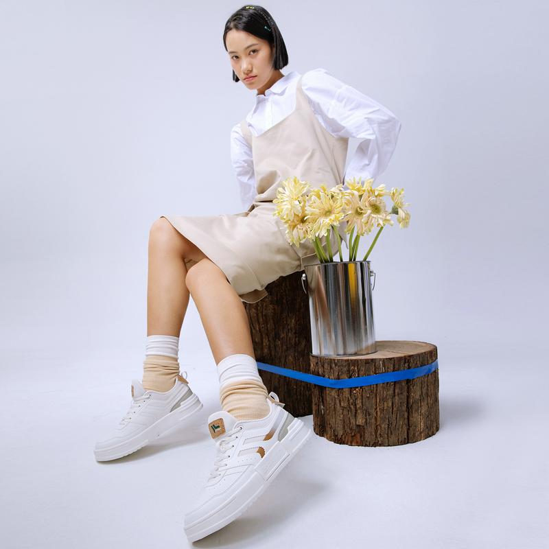 【环保木屑】特步  女子休闲鞋 21年新款 运动潮流舒适百搭女子板鞋休闲鞋879318310009