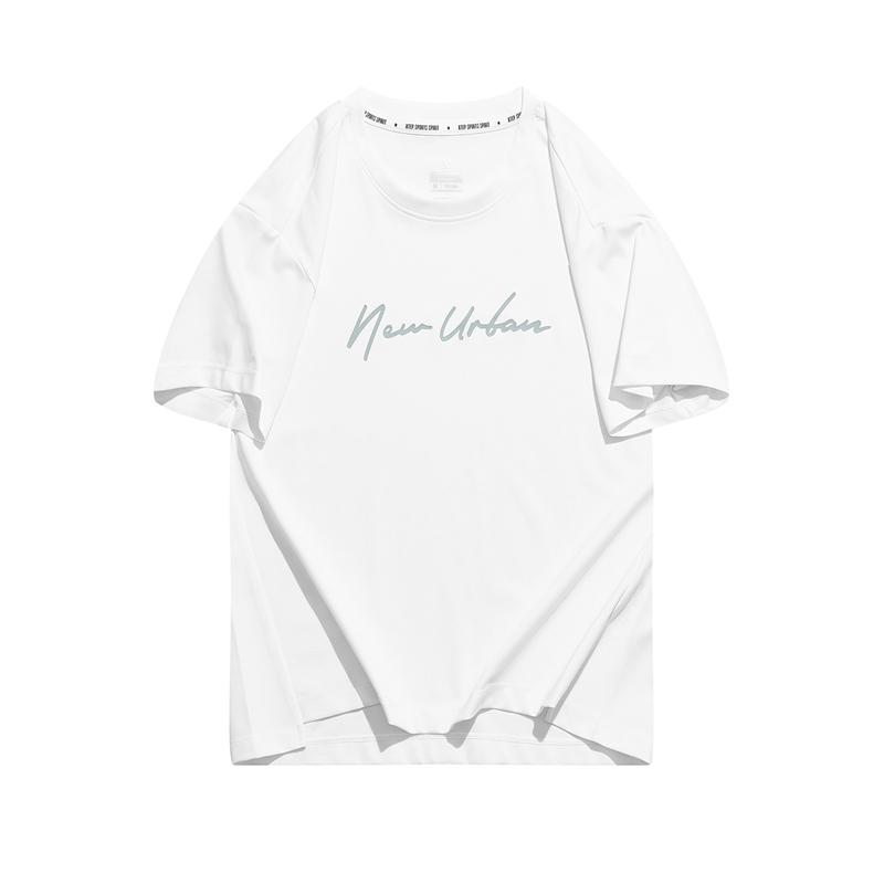 特步 专柜款 女子短袖 21年新款都市休闲清新T恤979328010057