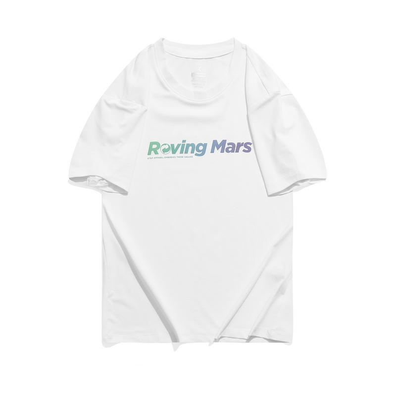 特步 专柜款 女子短袖 21年新款漫游火星糖果T恤979328010060
