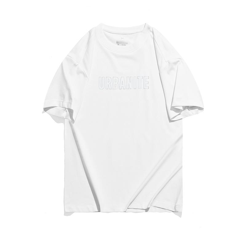 特步 专柜款 女子休闲短袖 21年新款纯色字母时尚T恤979328010061