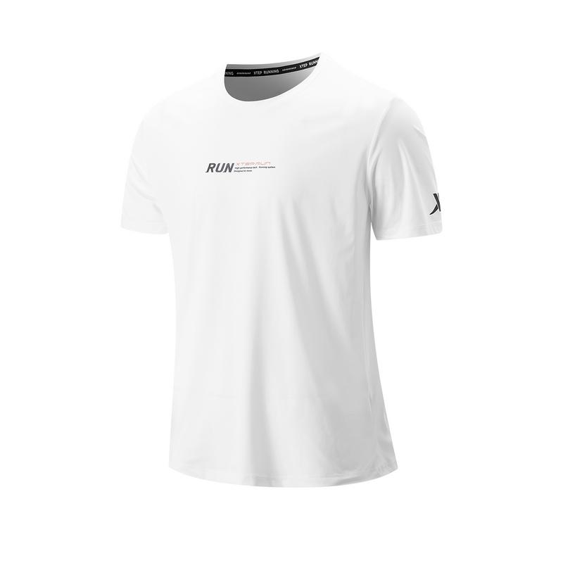 特步 专柜款 男子短袖针织衫 21年新款 跑步透气舒适运动男子T恤979329010241