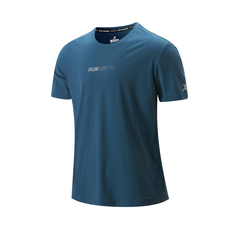 专柜款 男子短袖针织衫 21年新款 跑步透气舒适运动男子T恤979329010241