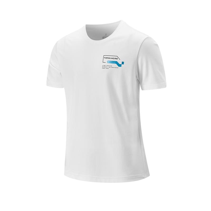 特步 专柜款 男子短袖针织衫 21年新款 运动舒适健身跑步男子T恤979329010313