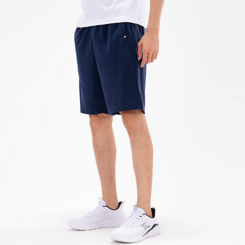 特步 男子针织中裤 21年新款 时尚运动休闲百搭男子五分裤短裤879229610329