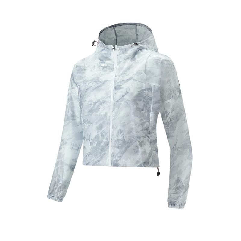 特步 专柜款 女子风衣 21年新款 骑行跑步瑜伽运动女T恤979328140407