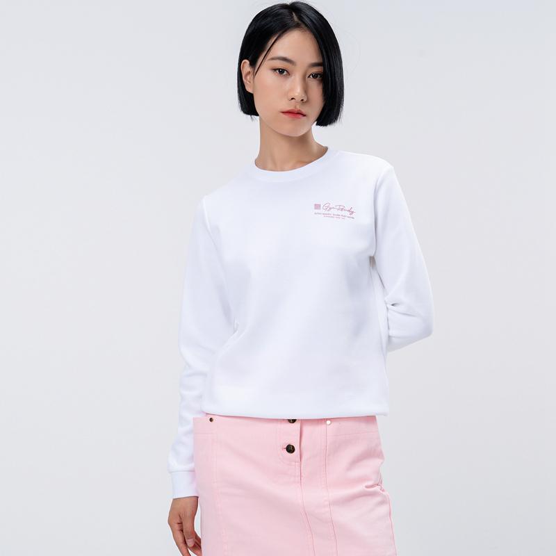 特步 专柜款 女子套头卫衣 21年新款 综训休闲舒适轻便女卫衣979328920024