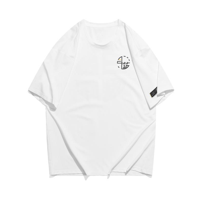 特步 专柜款 男子短袖针织衫 21年新款 潮流舒适百搭休闲篮球文化男T恤979329010570