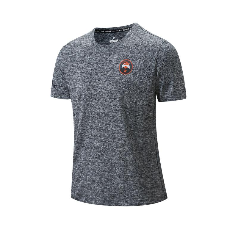 特步 专柜款 男子短袖针织衫 21年新款 跑步健身运动舒适男T恤979329010576