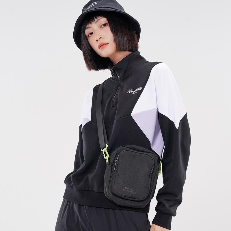 特步 专柜款 女子卫衣 21年新款 时尚半拉链潮流女子立领卫衣979328920169
