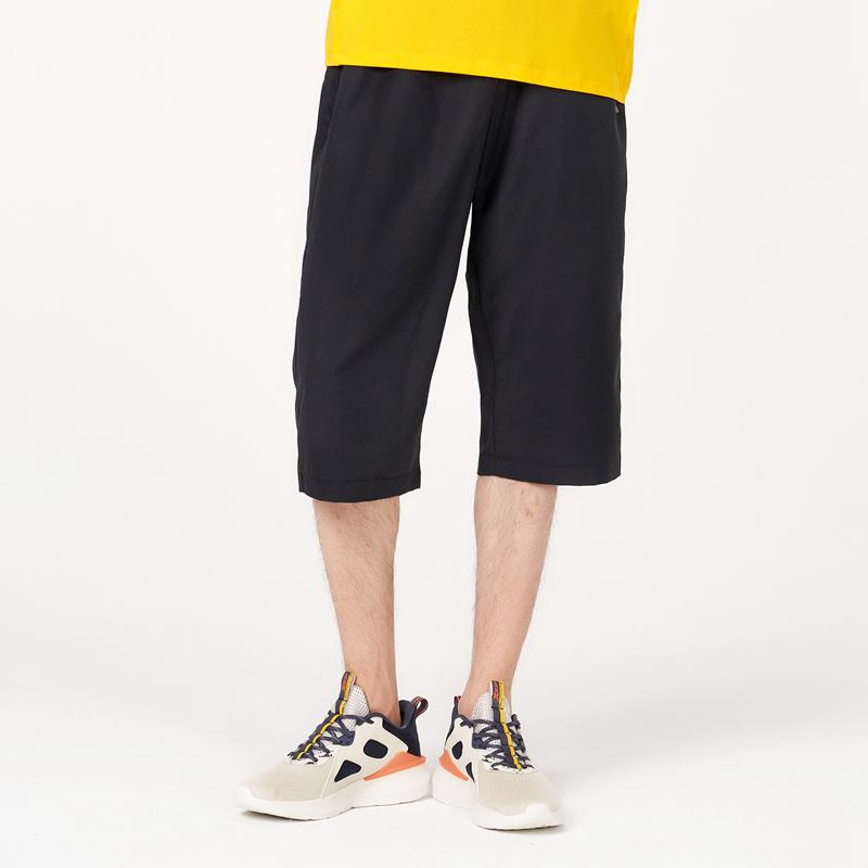 男子梭织运动七分裤 21年新款轻薄松紧抽绳简约短裤879229800328