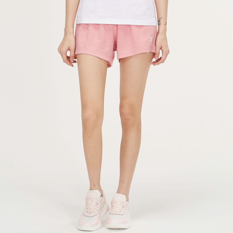 女子针织短裤 21年新款纯色简约活力松紧运动裤879228600341