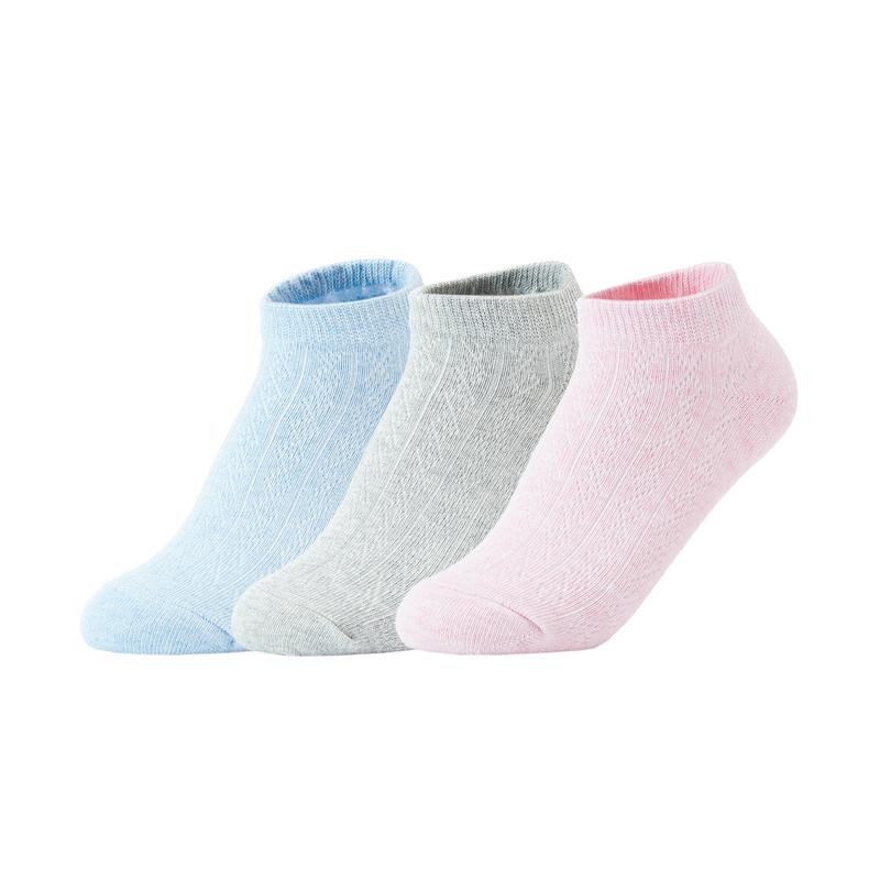 【四色装混色】特步 女子平板短袜(4双装) 21年新透气纯色袜子879238540183