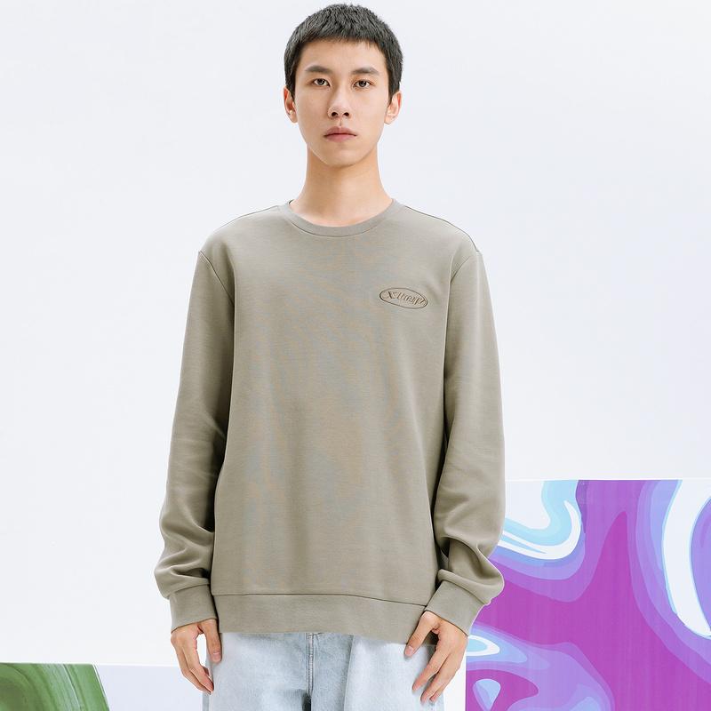 【预售到手69元】男子套头卫衣 21年新款秋圆领宽松纯色简约长袖上衣879329920117