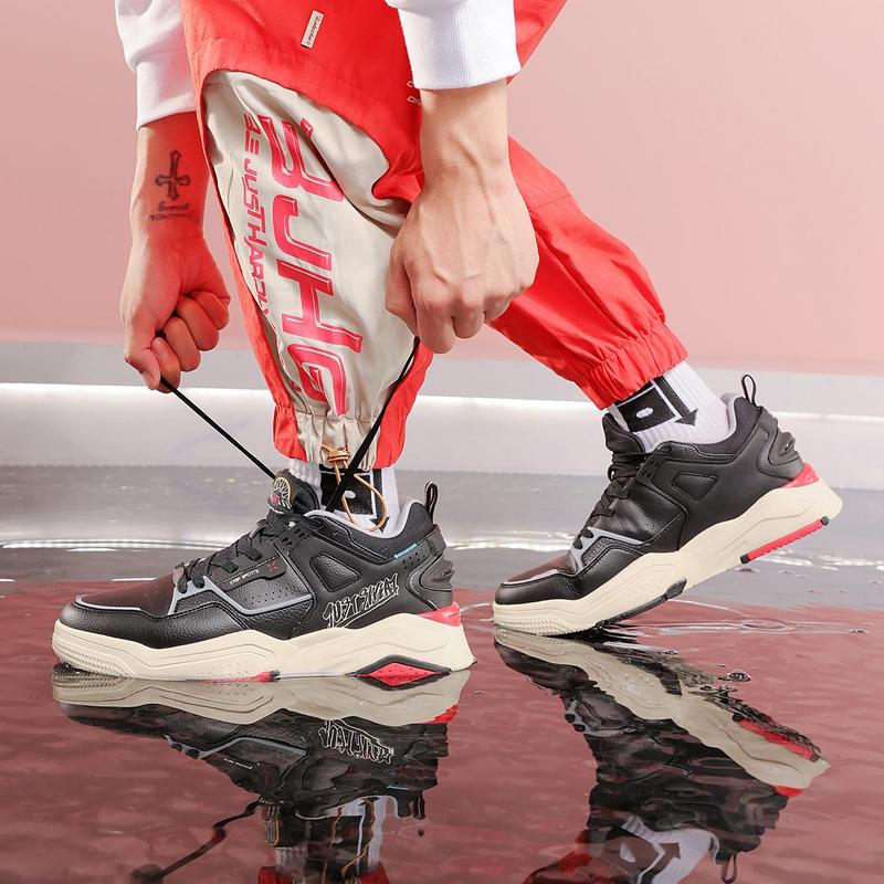 【新世代】特步 男子板鞋 21年新款 舒适百搭街头复古男子板鞋879419310016