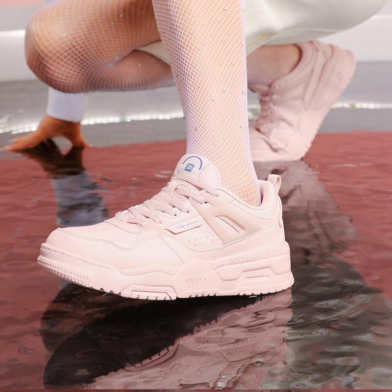 【新世代】特步 女子板鞋 21年新款 舒适百搭街头复古女子板鞋879418310017