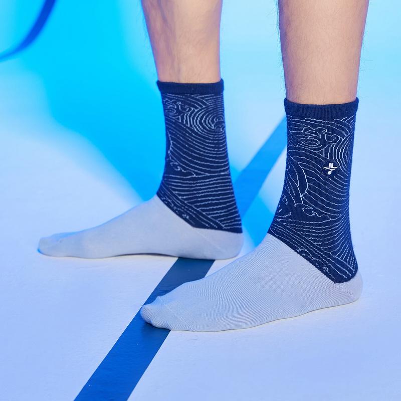 【林书豪联名】男子高帮袜 21年新款运动透气印花时尚袜子879139560091