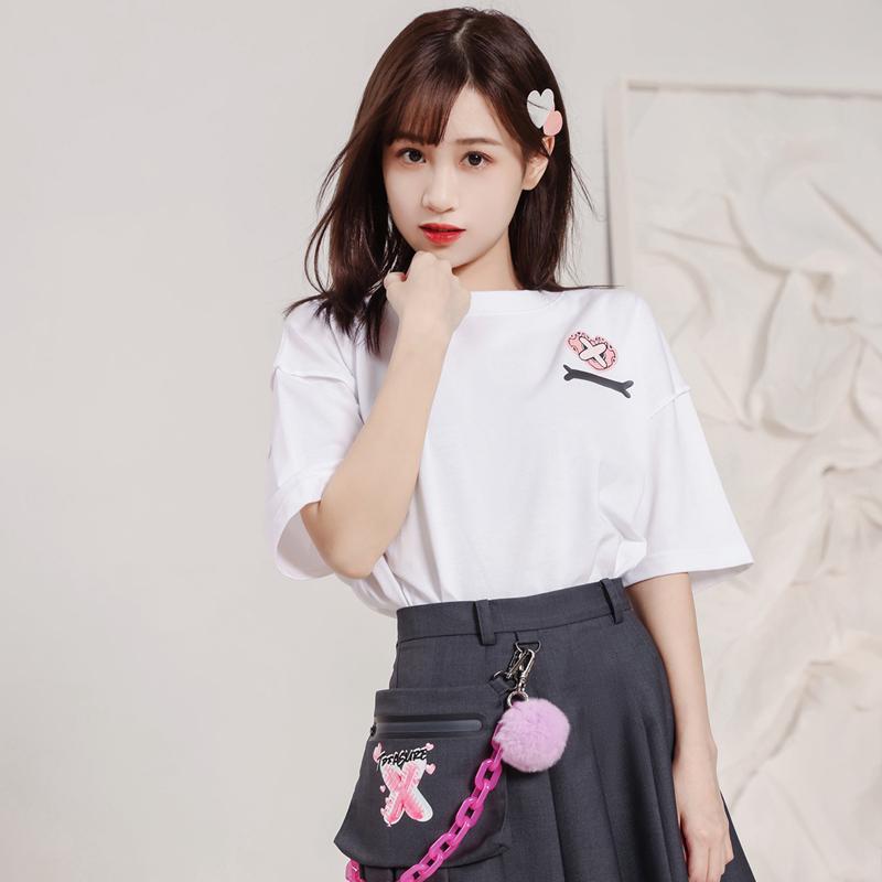 【特步半糖系列】 专柜款 男女同款 21年新款温感变色时尚宽松T恤979328010836