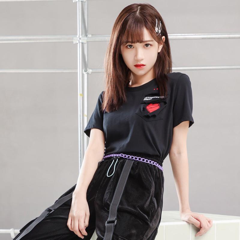 【特步半糖系列】 专柜款 女子短袖针织衫 21年新款DIY隐藏密语潮流短T恤979328010835