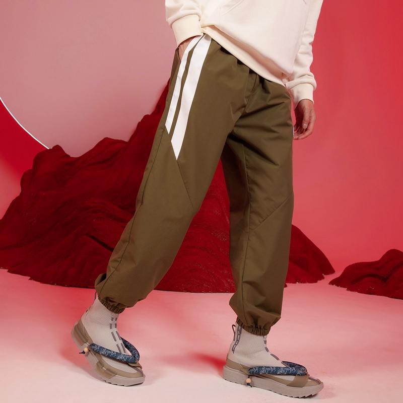 【少林联名】特步 专柜款 男子梭织运动长裤 21年新款 休闲百搭舒适时尚男子长裤979429980508