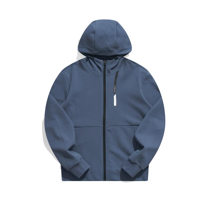 特步 专柜款 男子针织连帽上衣 21年新款 运动简约百搭男子卫衣979329940348