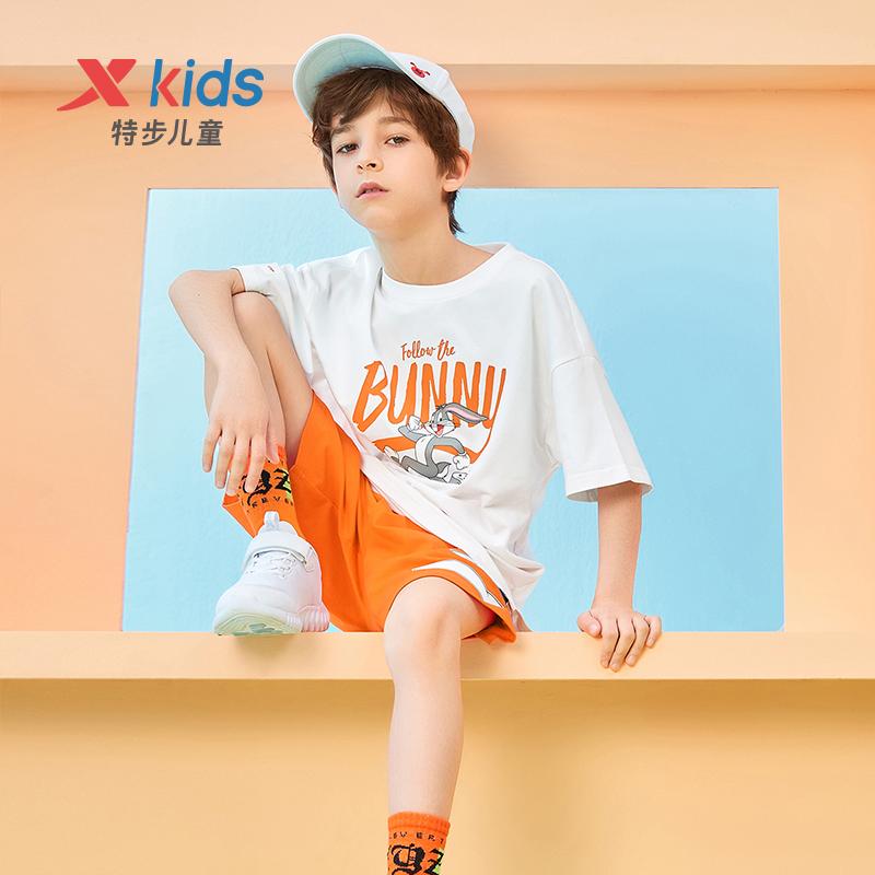 【兔八哥】男童女童童装 21夏季新款儿童中大童宽松上衣短袖T恤679226019038