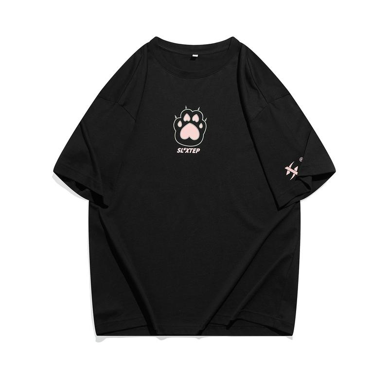 【少林联名】专柜款 中性短袖 21年新款男女同款少室樱雨系列半袖T恤979427010811