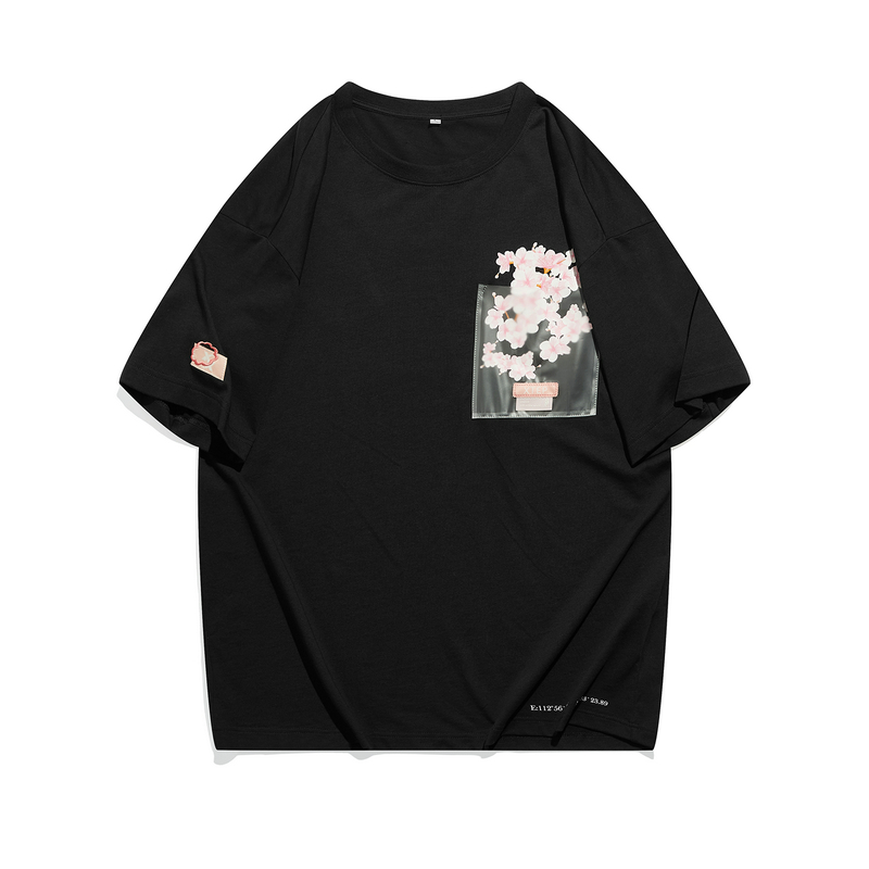 【少林联名】 专柜款 中性短袖 21年新款男女同款少室樱雨系列樱花T恤979427010797