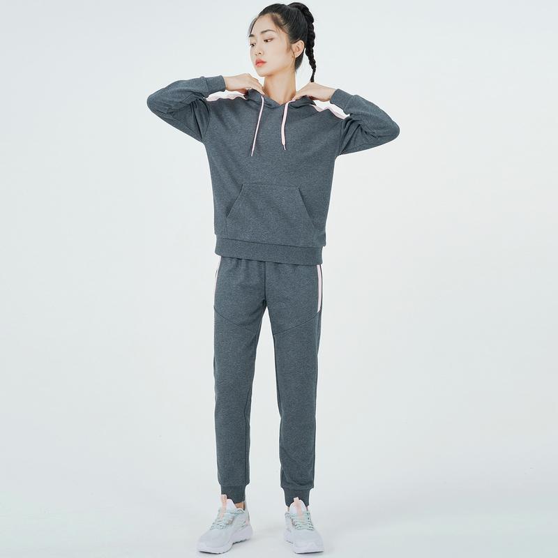 【预售到手139元】女子针织套装 21年新款简约套头卫衣运动裤2件套 879328960285