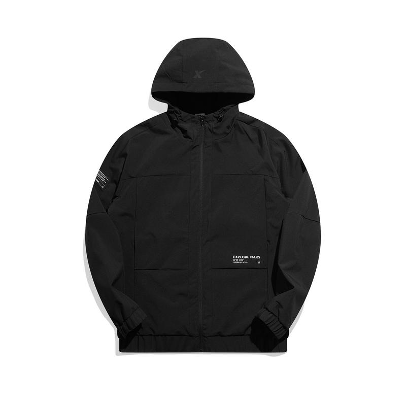 专柜款 男子保暖夹克 21年新款 简约连帽加绒男外套979429130601