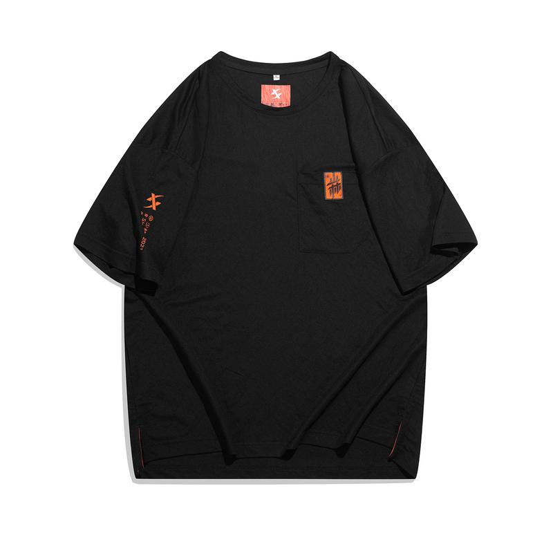 【少林联名】专柜款 男女同款短袖 21年新款 潮流休闲运动短袖针织衫979427010646