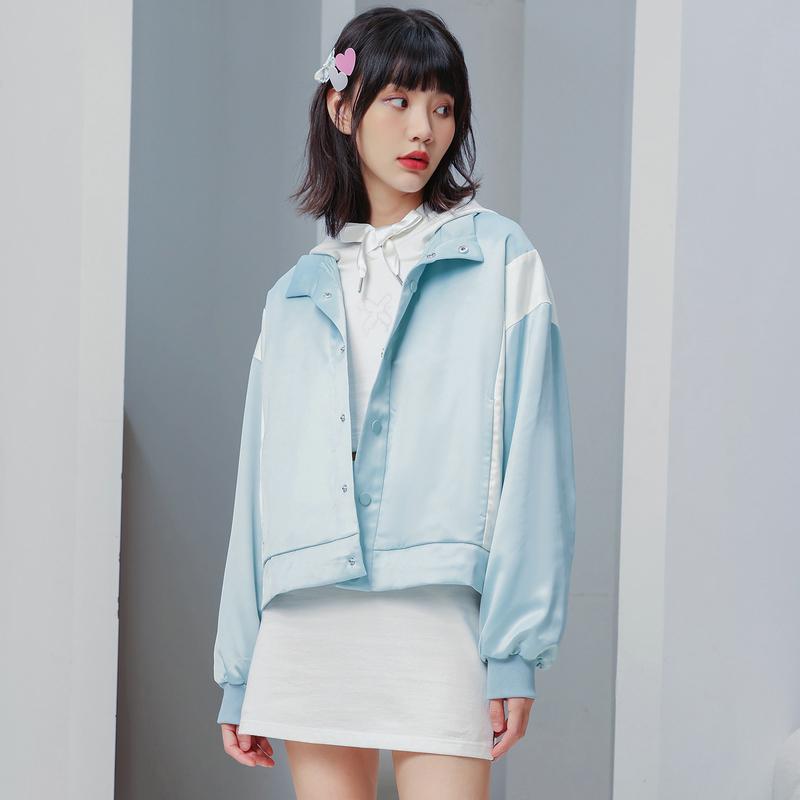 【半糖系列】专柜款 女子夹克 21年新款 潮流舒适缎面双层夹克 979328120827
